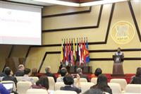 Tiến sỹ AKP Mochtan, Phó Tổng thư ký ASEAN phát biểu tại hội thảo. (Ảnh: Đỗ Quyên/Vietnam+)