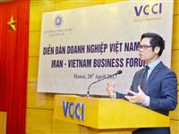 Chủ tịch Phòng Thương mại và Công nghiệp Việt Nam Vũ Tiến Lộc phát biểu. (Ảnh: Minh Quyết/TTXVN)