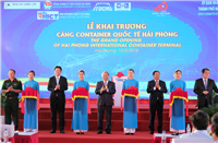 The grand opening of Hai Phong International Container Port. Photo: VGP