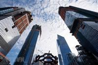Quang cảnh một công trường xây dựng ở New York, Mỹ. (Nguồn: AFP/TTXVN)