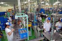 Dây chuyền sản xuất linh kiện ôtô, xe máy tại nhà máy của Công ty TNHH Keihin Việt Nam.