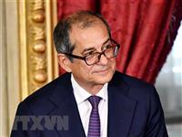 Bộ trưởng Kinh tế Italy Giovanni Tria. (Ảnh: AFP/TTXVN0