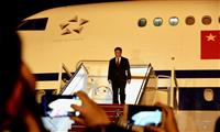 Chủ tịch Trung Quốc Tập Cận Bình đến sân bay quốc tế Brunei. (Nguồn: Thescoop.com)