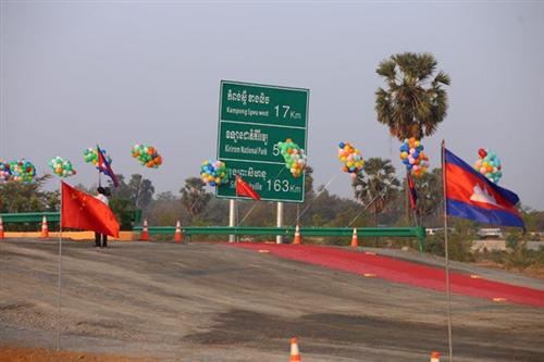 Dự án đường cao tốc Phnom Penh-Sihanoukville. (Nguồn: freshnewsasia.com)