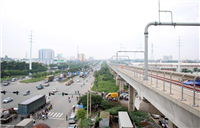 Once completed, Metro line No.1 is expected to create a highlight in Ho Chi Minh City traffic. (Photo: VNA)